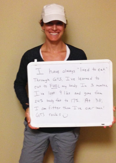 Lost 9lbs and 7% of her body fat with GTS