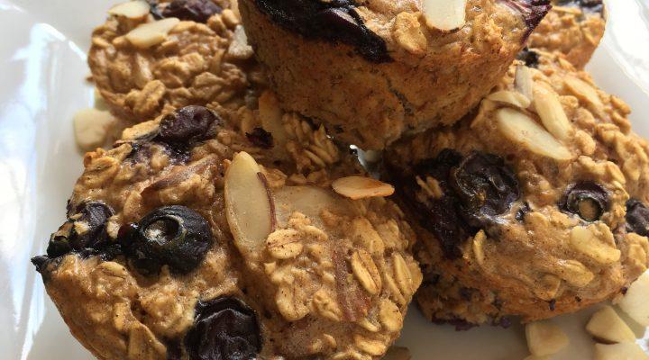 Blueberry Almond Protein Muffins