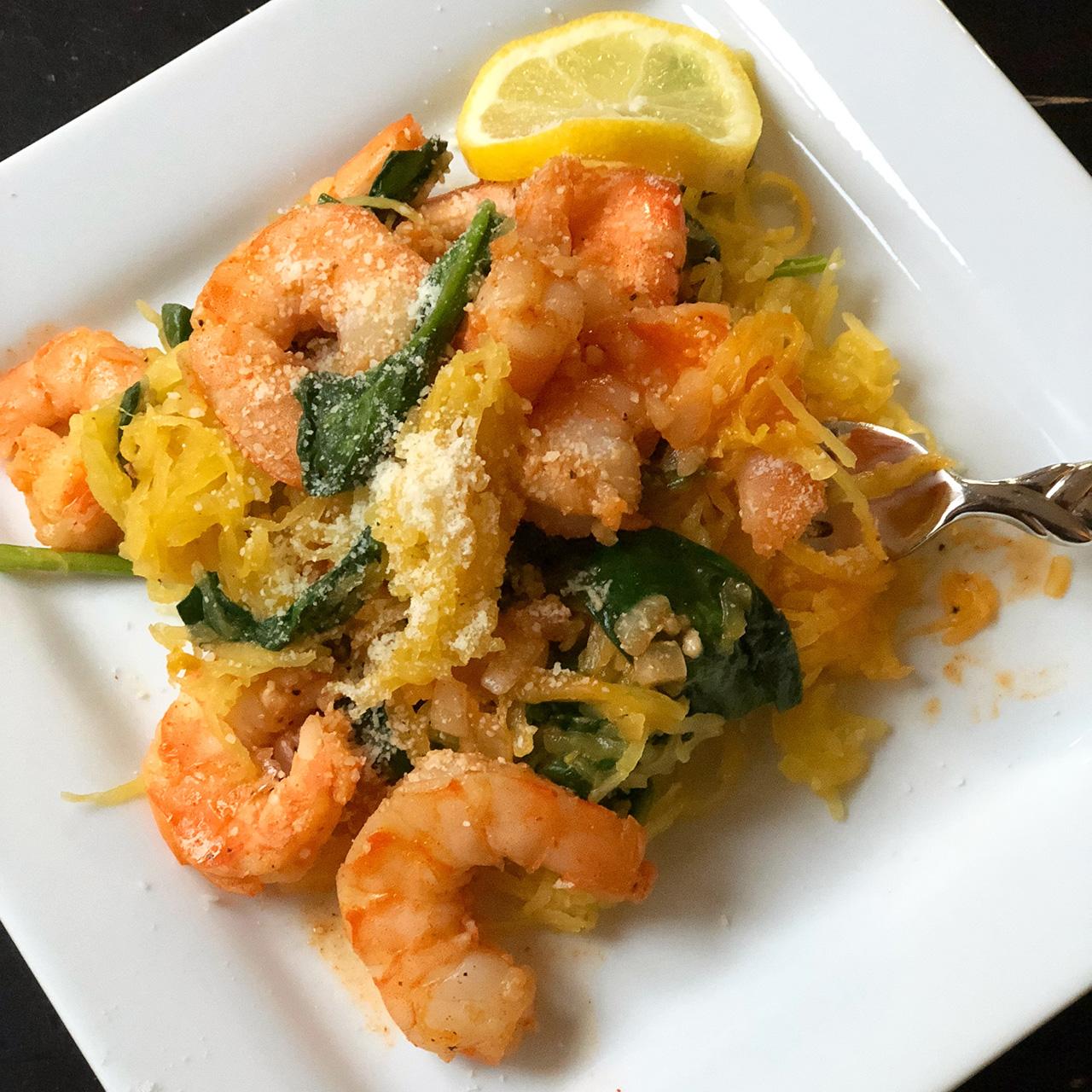 Shrimp Scampi with Spaghetti Squash