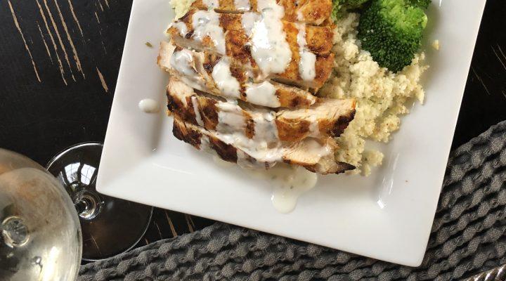 Chicken Schwarma with Yogurt Sauce