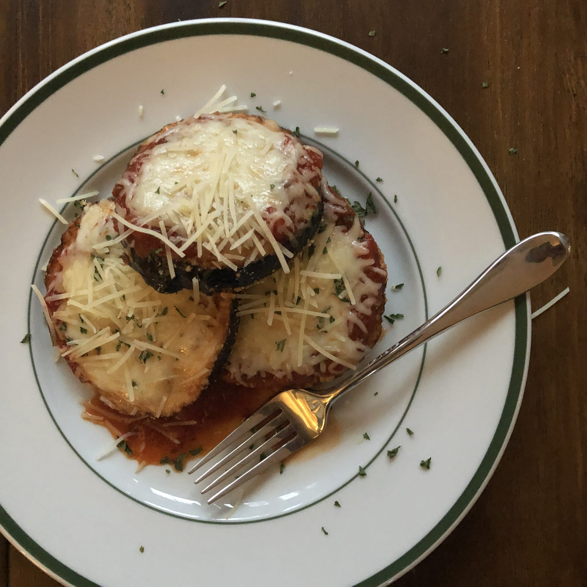 Light & Breadless Eggplant Parmesan